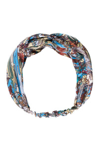 Swamp Print Silk Head Band