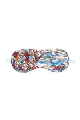 Swamp Print Silk Eye Mask