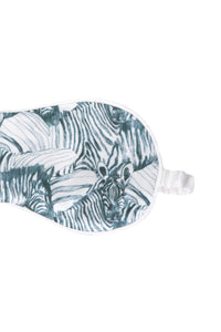 White Zebra Silk Eye Mask
