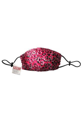 Pink Leopard Silk Face Mask