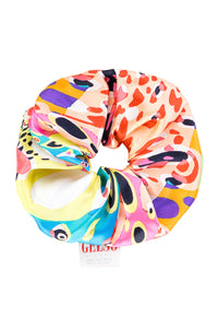Harlequin Silk Scrunchie