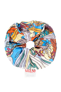 Swamp Print Silk Scrunchie