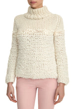 Load image into Gallery viewer, Mixed Knit Turtleneck - Ivory