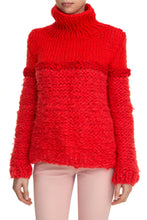 Load image into Gallery viewer, Mixed Knit Turtleneck - Red