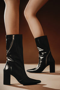 Mid Calf Zipper Boots