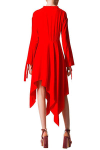 Asymmetric Scarf Dress