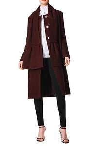 Slim Scarf Coat