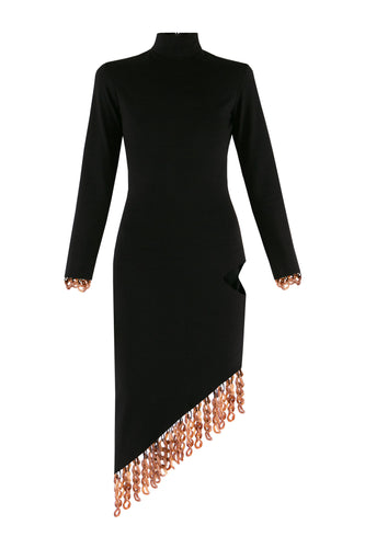 Chain Detail Cutout Dress