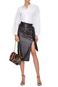 Sequin Side Tie Skirt