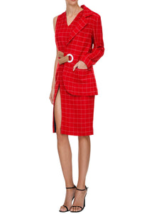 Plaid Jacket Dress