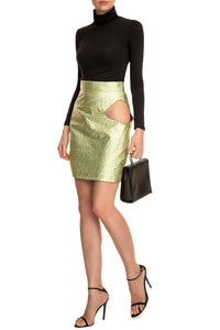 Metallic Cutout Skirt