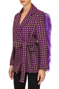 Feather Sleeve Jacket