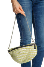 Load image into Gallery viewer, Green Stripe Metallic Handbag