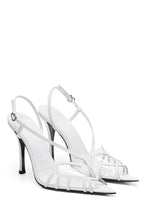 Load image into Gallery viewer, PVC Heart Slingbacks - White