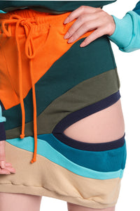 Collage Cutout Sweat Skirt