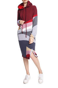 Hoodie Cutout Sweat Dress