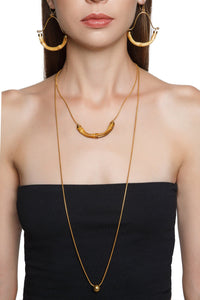 Bamboo Double Tier Necklace