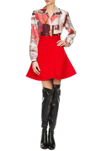 Flare Skating Skirt - Red