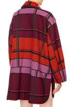 Load image into Gallery viewer, Plaid Cocoon Coat