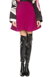 Flare Skating Skirt - Fuchsia