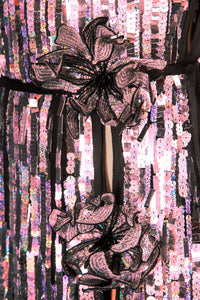 Sequin Evening Gown - Pink