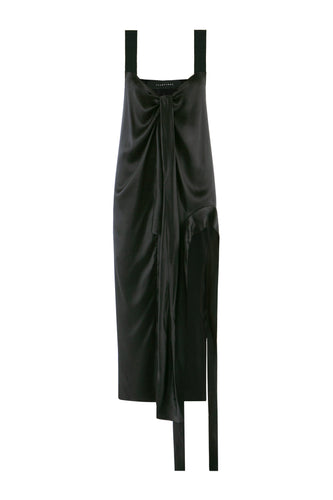Drape Silk Slip Dress
