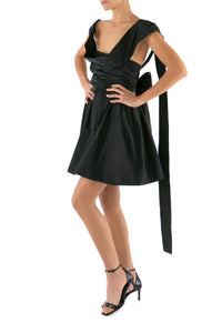 Bow Taffeta Dress