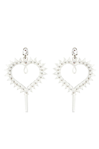 Heart Earrings - Clear
