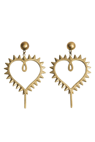 Heart Earrings - Gold