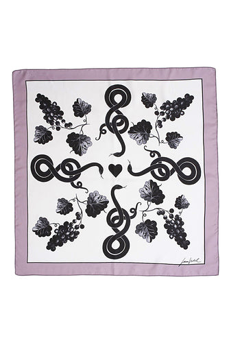 Grapes Scarf - Lilac