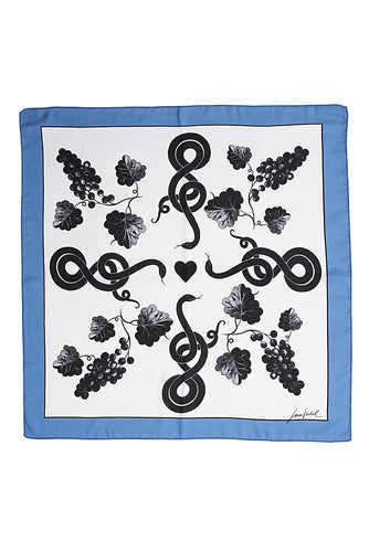 Grapes Scarf - Blue