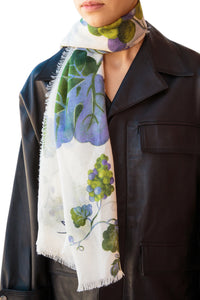 Oversized Grapevine Scarf - Cream