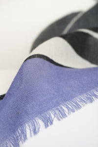 Oversized Grapes Scarf - Blue