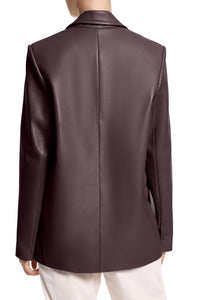 Faces Leather Jacket - Chocolate
