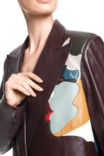 Load image into Gallery viewer, Faces Leather Jacket - Chocolate