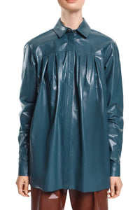 Leather Shirt - Teal
