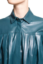 Load image into Gallery viewer, Leather Shirt - Teal