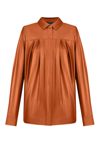 Leather Shirt - Brown