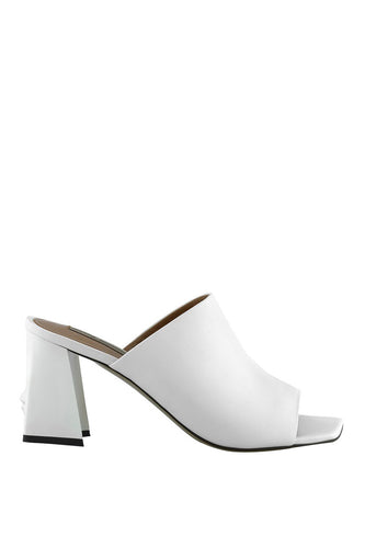 Bianca Art Mules - White