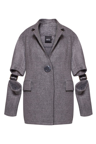 Short/Long Sleeve Wool Jacket
