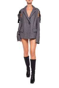 Convertible Vest Wool Jacket