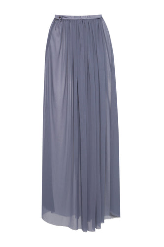 Long Sheer Skirt - Blue