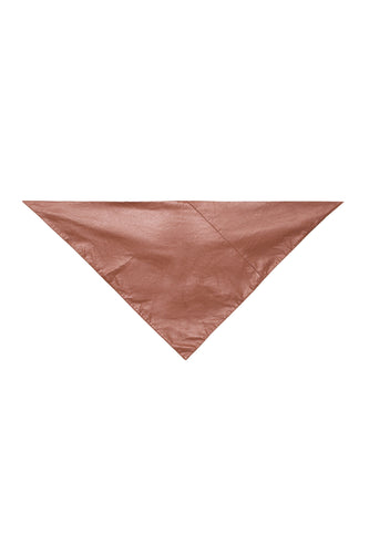 Eco Leather Kerchief Scarf - Tan