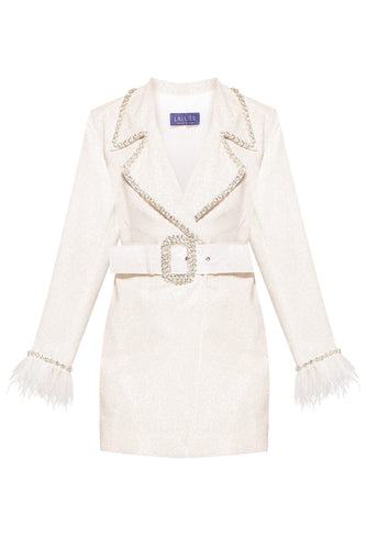 Crystal Trim Coat Dress