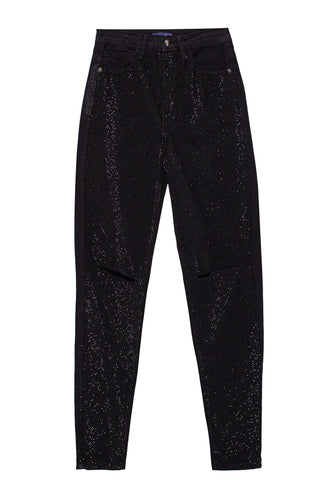 Crystals Bedazzled Jeans - Black