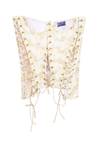 Brocade Lace-up Corset