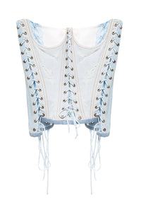 Denim Lace-up Corset