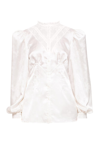 Satin Lace Inset Blouse