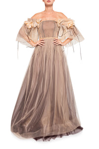 Off Shoulder Corset Gown