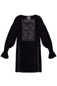 Velvet and Lace Smock Dress